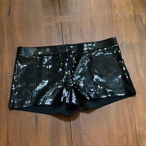 Express Sequin Shorts NWT